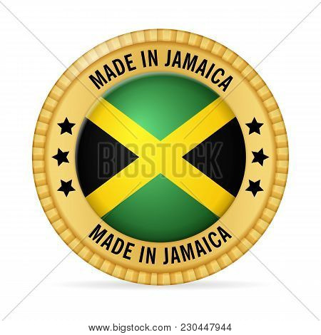Icon Made In Jamaica On A White Background.