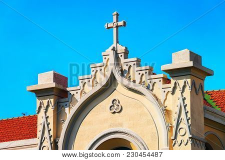 Detail Of A Church In Messina, Sicily, Italy