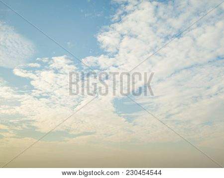 Clouds With Soft White And Blue Sky In Background.
