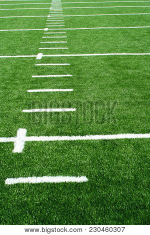 A Astro Turf Football Field Yard Markers