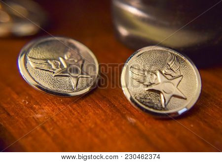 Shinny Honor Guard Air Force Jacket Buttons