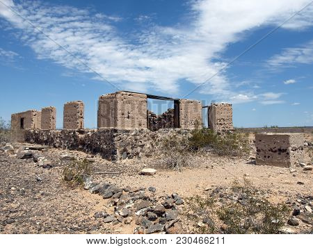 This Is The Remains Of An Old Stage Coach Stop Near The Abandoned Town Of Stanwix Arizona Along The