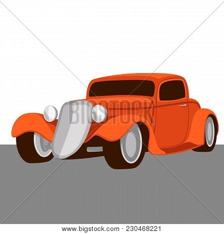Classic Vintage Truck Vector Illustration Flat Style Side