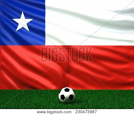 Soccer Ball With The Flag Of Chile