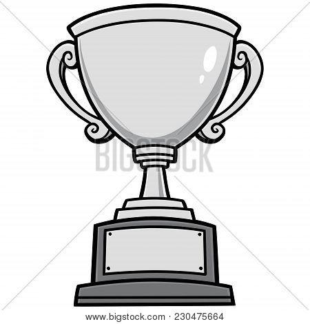 Trophy Illustration - A Vector Cartoon Illustration Of A Winning Team Trophy.