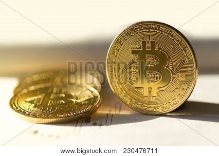 Bitcoin (crypto Currency) Buy Or Sell - Stock Image