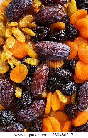 Dried Fruit Food Background For Healthy Morning Breakfast
