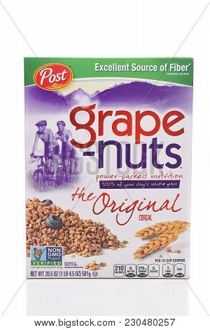 Irvine, California - March 10,  2018: A 24 Ounce Box Of Post Grape-nuts. Developed In 1897 By C. W.
