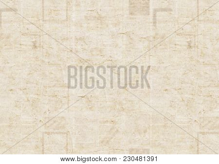 Old Grunge Newspaper Paper Texture Background. Blurred Vintage Newspaper Background. Scratched Paper