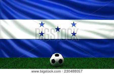 Soccer Ball With The Flag Of Honduras