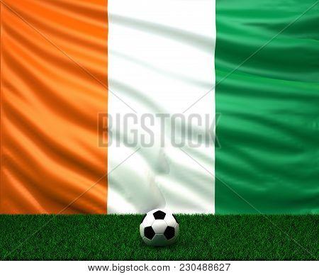 Waving Flag Of Cote D'ivoire