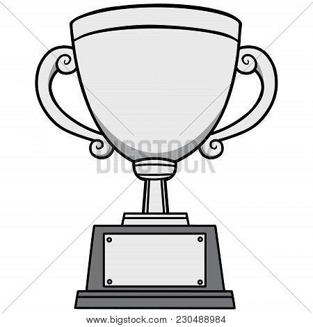 Winning Trophy Illustration - A Vector Cartoon Illustration Of A Winning Trophy.