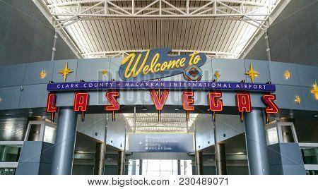 Welcome To Las Vegas Airport - Las Vegas Nevada - Photo October 20, 2017