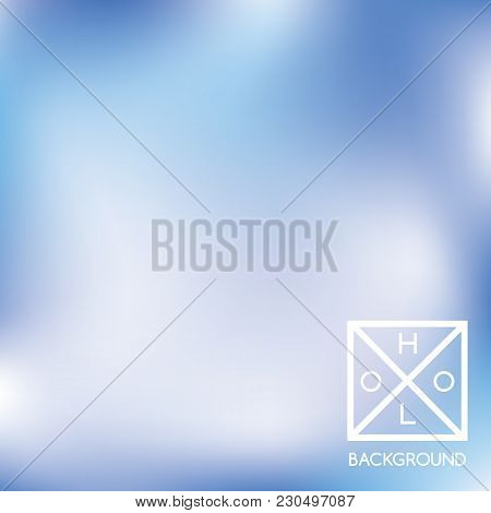 Navy Blue Background. Iridescent Cover.  Abstract Neon Colors Foil.  Trendy Creative Vector Cosmic G