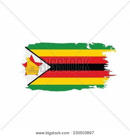 Zimbabwe Flag, Vector Illustration On A White Background