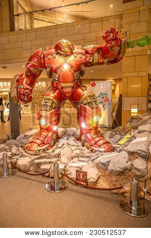 Tokyo, Japan - April 20, 2017: Mark 44 Or Hulkbuster, An Extra Heavy-duty Armor Created By Tony Star