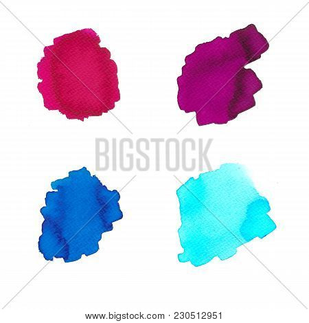 Watercolor Swashes In Bright Colors For Use Of Background