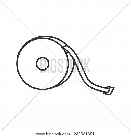 Measuring Tape Linear Icon. Thin Line Illustration. Sewing Meter. Tapeline. Contour Symbol. Vector I