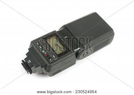 Speedligh For Dslr Cameras Isolated On The White Background