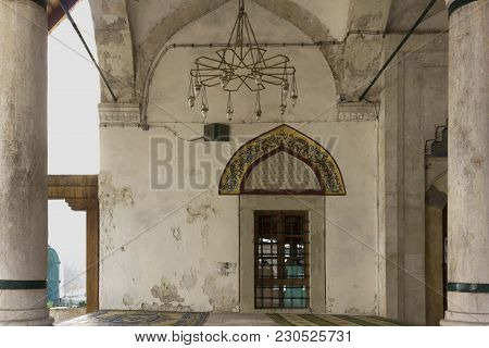 Mostar, Bosnia And Herzegovina - August 17 2017: Koski Mehmed Pasha Mosque In Mostar Architecture, E