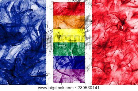 France Gay Smoke Flag, Lgbt France Flag