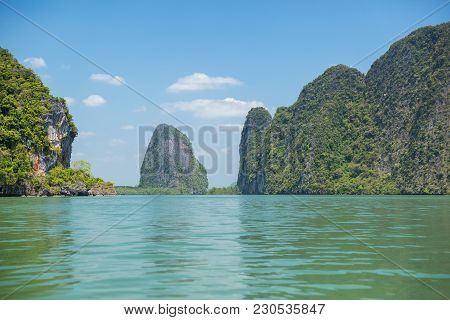 Ko Panyi Is A Fishing Village In Phang Nga Province, Thailand, Notable For Being Built On Stilts By