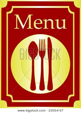 Elegant menu background vector