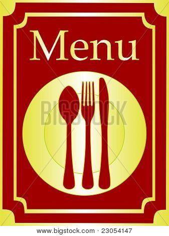 Elegant menu background vector