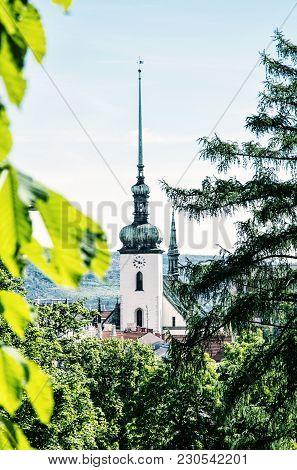 Church Of St. James In Brno, Moravia, Czech Republic. Religious Architecture. Travel Destination. Bl