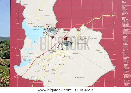 Buckshot Holes In Map Sign
