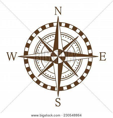 Compass Wind Rose. Compass Icon. Vector Illustration
