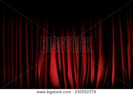 Photo Of The Theatrical Scenes Taken From The Hall With Directional Round Light In Different Colors