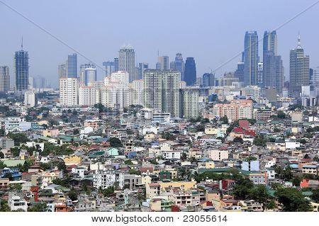 Urban Sprawl Makati Stadt Manila