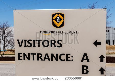 Whitestown - Circa March 2018: Amazon.com Fulfillment Center. Amazon Is The Largest Internet-based R