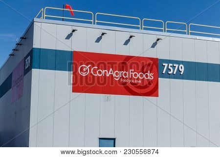 Indianapolis - Circa March 2018: Conagra Brands Manufacturing Plant. Conagra Makes Over 60 Brands Of