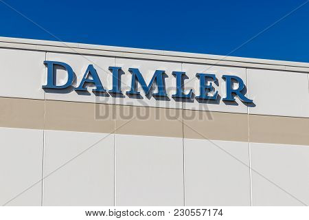 Whitestown - Circa March 2018: Daimler Trucks North America Distribution Center. Daimler Trucks Is F