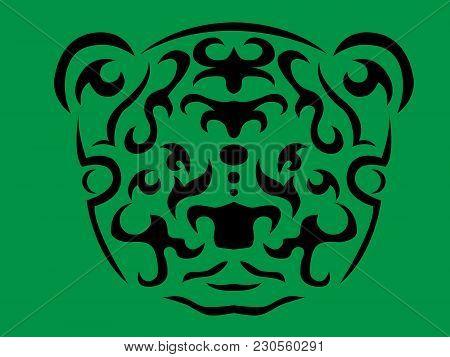 Tribal Panda Illustration, Panda In Tribal Style, Ornamental Bear