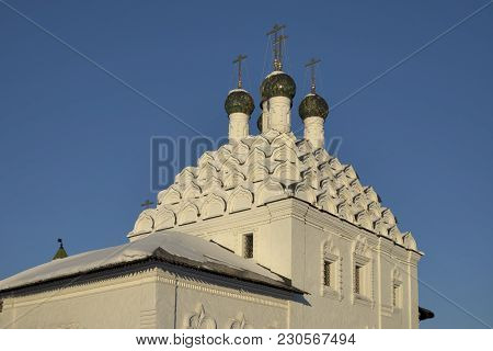 Kolomna, Russia - 10 March 2018 View Of Church Of St. Nicholas On Posada - Orthodox Old Believers Ch