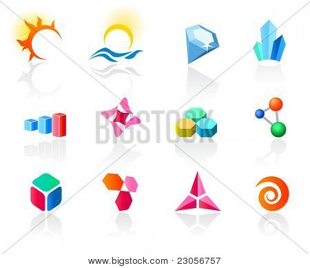 Set of different icons (part 6). Please see more in my portfolio.