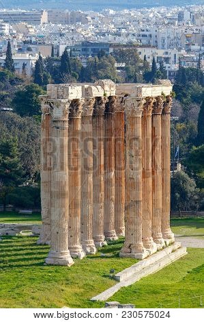 Ancient Temple Of The God Zeus. Athens. Greece