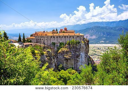 St. Stephen's Monastery And Beautiful Landscapes Of Meteora