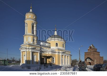Kolomna, Russia - 10 March 2018 Church Of The Exaltation Of The Holy Cross In Kolomna Kremlin, Russi