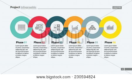 Six Phases Timeline Slide Template. Business Data. Graph, Chart, Design. Creative Concept For Infogr