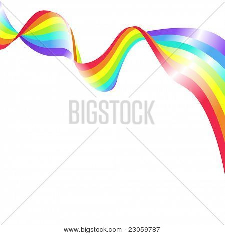 Abstract rainbow background vector illustration