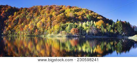 View Of Beautiful Lake In Plitvice National Park, Croatia