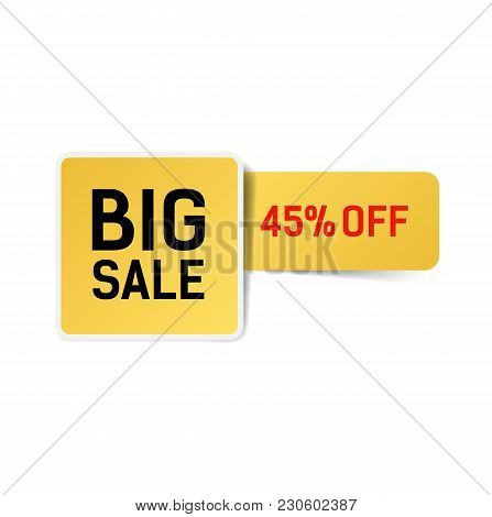 Big Sale Forty Five Percent Off Lettering. Sale Design Element. Typed Text, Calligraphy. For Posters