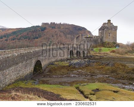 7th Of February , 2017 Isle Of Skye, Scotland - Eilan Donan Castle Fortified Castle Built In The Mid