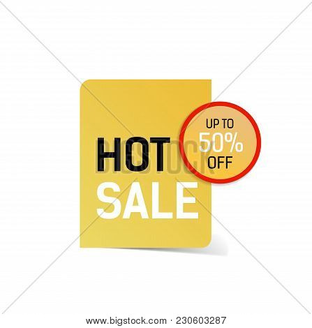 Hot Sale Up To Fifty Percent Off Lettering. Sale Design Element. Typed Text, Calligraphy. For Poster