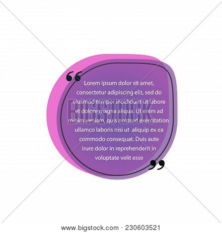 Quote Template In Quotation Marks. Quote Design Element. Typed Text, Calligraphy. For Posters, Banne