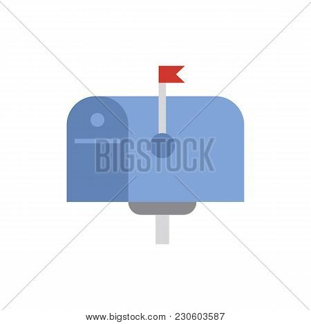 Mail Box Icon Flat Symbol. Isolated  Illustration Of  Icon Sign Concept For Your Web Site Mobile App